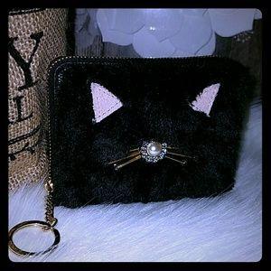 Kate spade Dani Cat wallet keychain